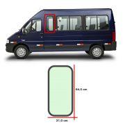Vidro Lateral C/ Borracha 0,64 x 0,31 Fiat Ducato 2006 07 08 09 10 11 12 13 14 15 16 17
