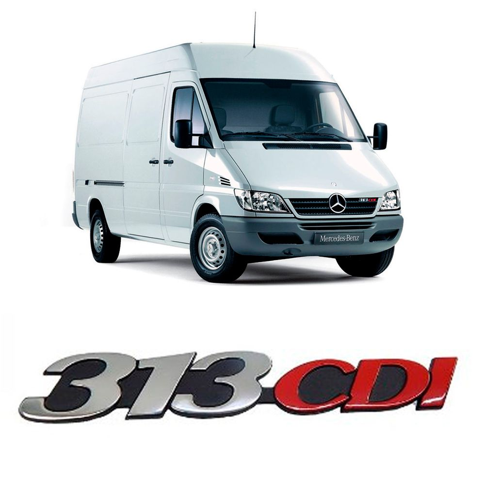 Emblema Sprinter Grade 313 Cdi - Original Mercedes Benz 2002 2003 2004 2005 2006 2007 2008 2009 2010 2011 2012