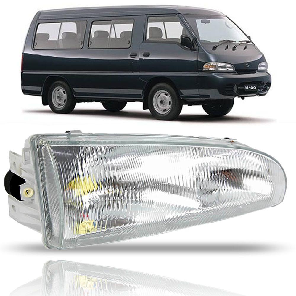Farol Lado Direito Hyundai H100 1997 1998 1999 2000 2001 2002 2003 2004