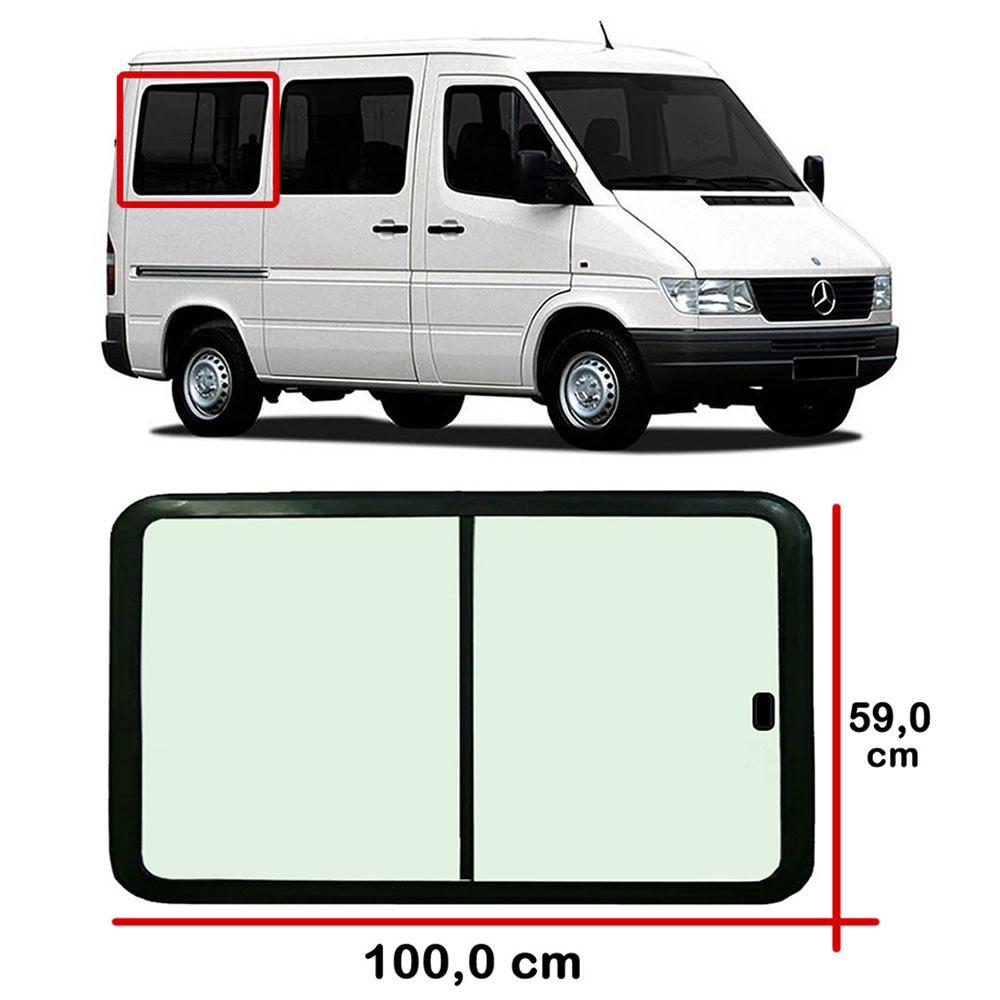 ba689df759b22 Janela Lado Direito 1º Vão 100,0 x 59,0 cm Mercedes Benz Sprinter ...