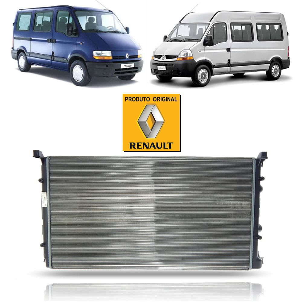 Radiador de Água Original Renault Master 2.5 2.8 6 Marchas 2002 03 04 05 06 07 08 09 10 11 12