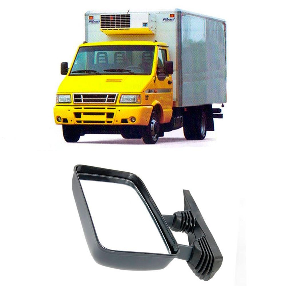 Retrovisor Haste Curta da Iveco Truck Lado Esquerdo 1997 1998 1999 2000 2001 2002 2003 2004 2005 2006 2007
