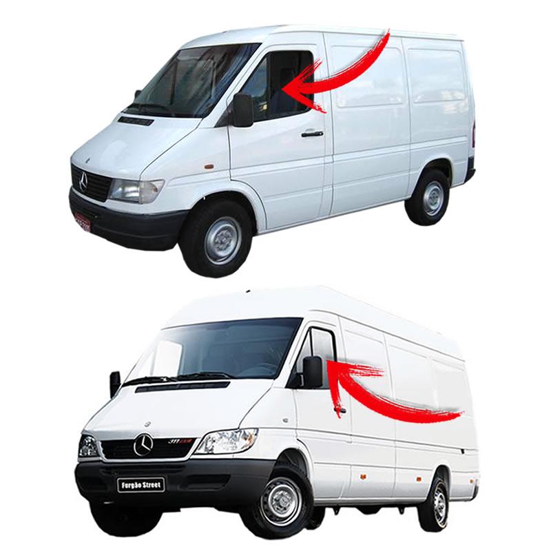 Vidro Porta Dianteira Lado Esquerdo da Sprinter 1997 1998 1999 2000 2001 2002 2003 2004 2005 2006 2007 2008 2009 2010 2011 2012