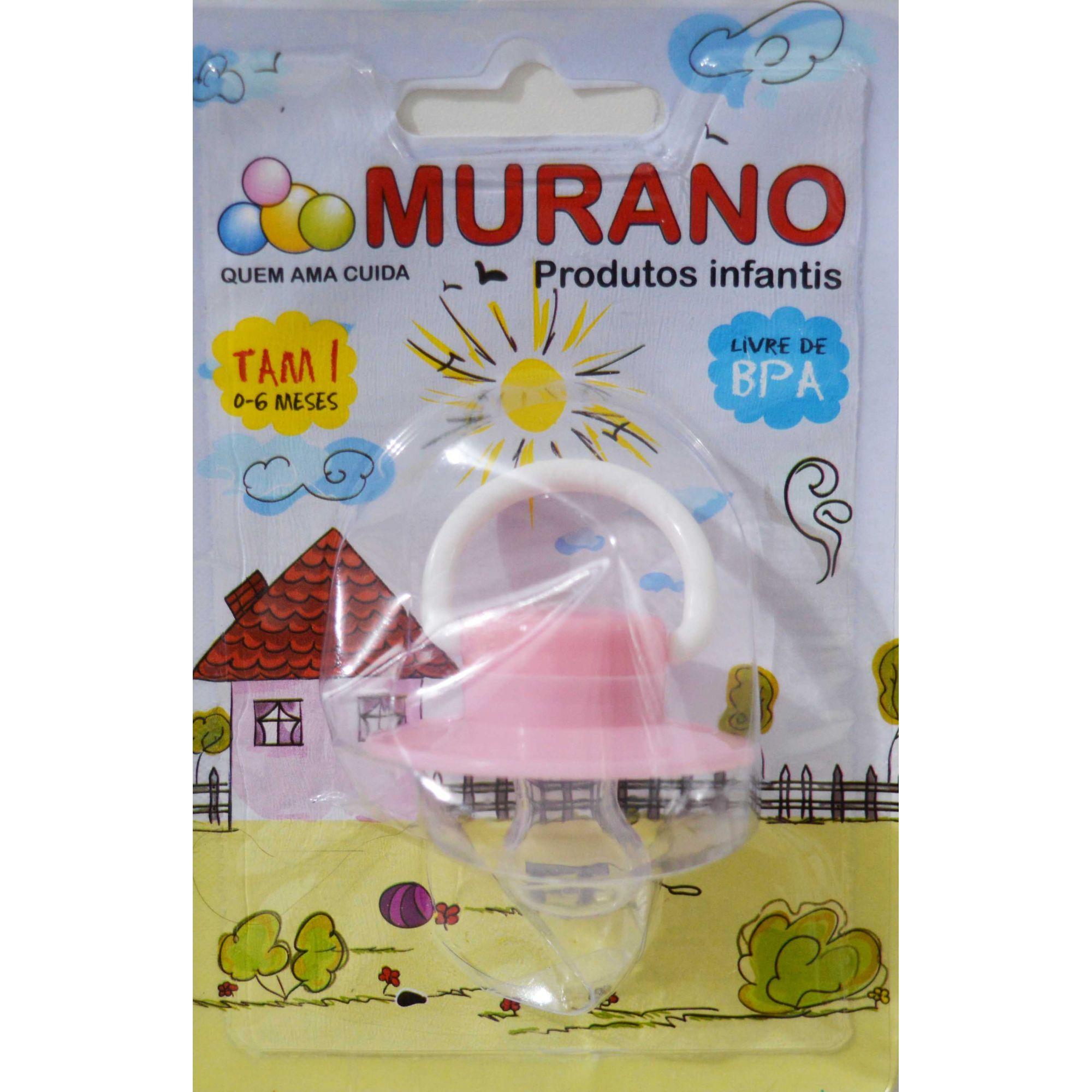 Chupeta Bico de Silicone Murano (0-6 Meses)