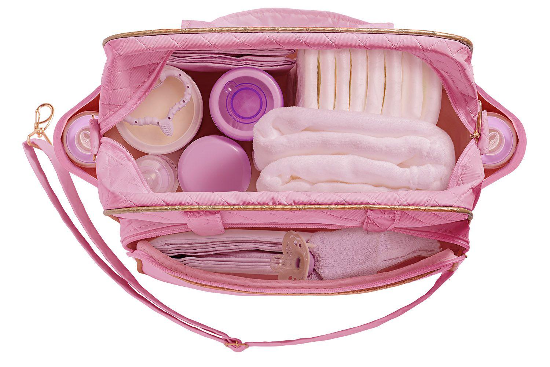 Kit Bolsa Maternidade com Trocador Plike Baby