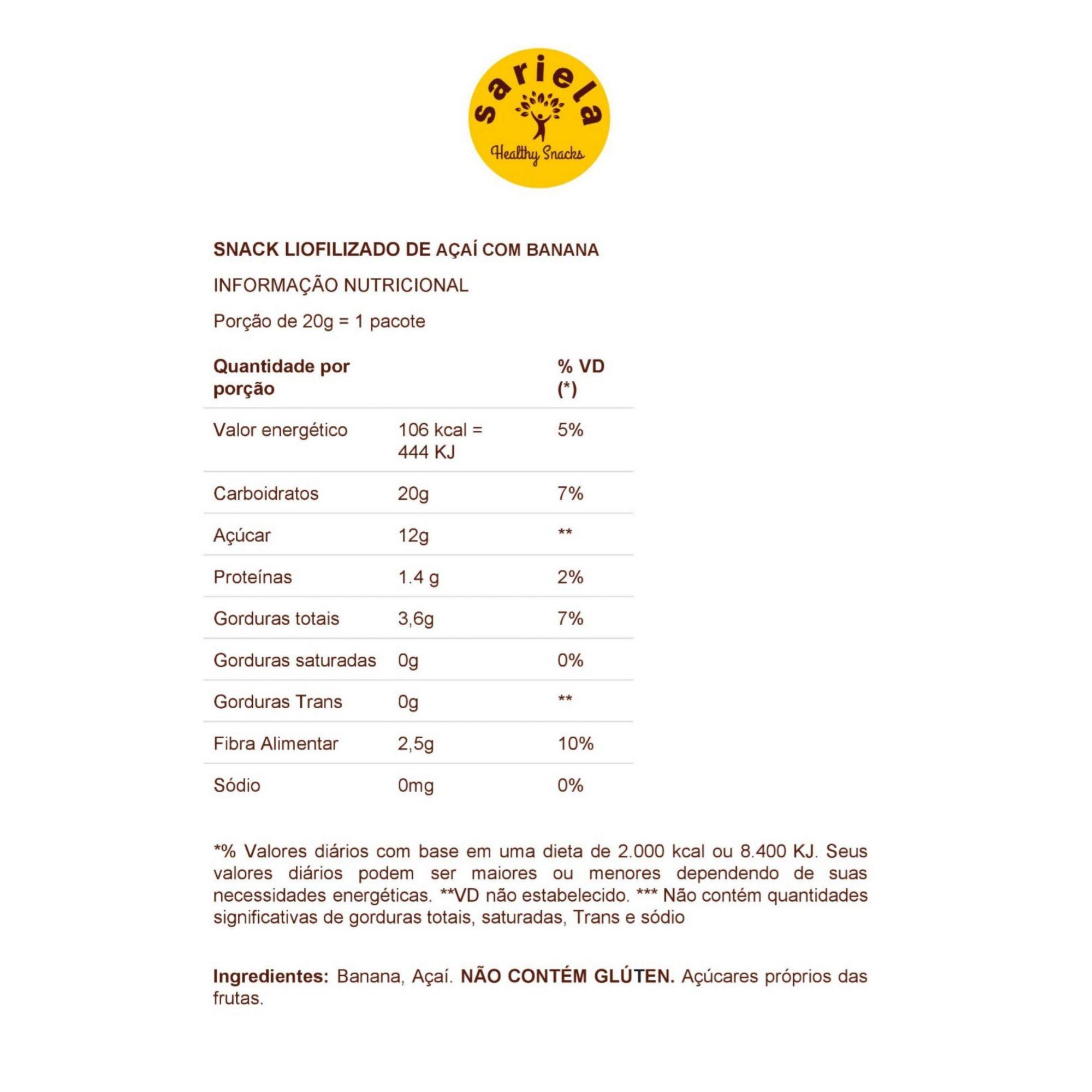 MAX BOX DE FRUTA POR ASSINATURA - 16 UNIDADES - FRETE GRÁTIS  - Sariela Healthy Snacks