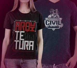Camisetas exclusivas de Arquitetura e Engenharia Civil