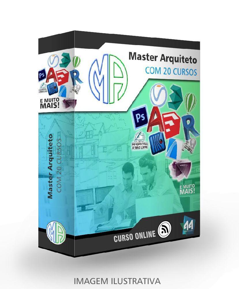 APRIMORAMENTO EM ARQUITETURA MASTER ARQUITETO  - 20 CURSOS COMPLETOS