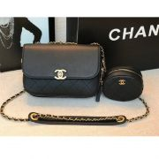 BOLSA CHANEL CALFSKIN FLAP BAG & COIN PURSE AS1094