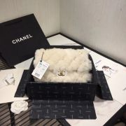 BOLSA CHANEL FLAP BAG WOOL SHEEPSKIN AS1200