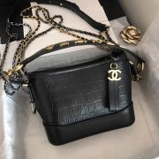 BOLSA CHANEL GABRIELLE CROCO SMALL HOBO BAG A91810