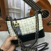 BOLSA  CHANEL GABRIELLE MINI SHOULDER BAG SUEDE TWEED 1010A