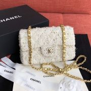 BOLSA CHANEL TWEED FLAP BAG A01112