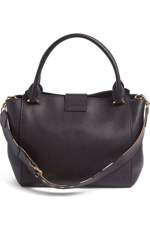 BOLSA BURBBERY BUCKLE LEATHER SATCHEL