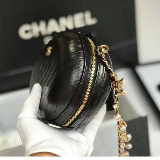 BOLSA CHANEL CALFSKIN CHEVRON EVENING