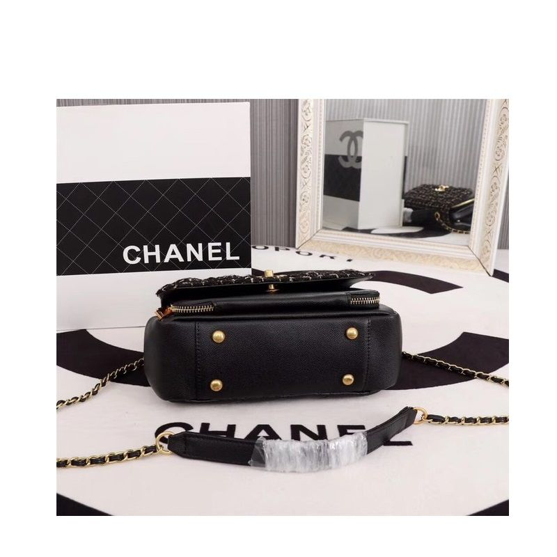 BOLSA CHANEL CALFSKIN LEATHER TOTE BAG 85583