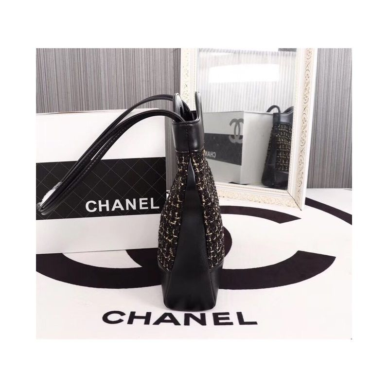 BOLSA CHANEL CALFSKIN TWEED SHOPPING BAG