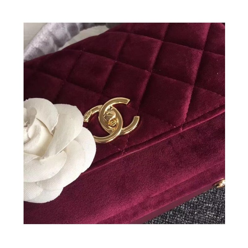 BOLSA CHANEL FLAP BAG BURGUNDY SUEDE 69878