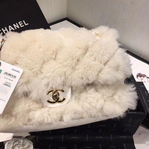 BOLSA CHANEL FLAP BAG WOOL SHEEPSKIN AS1200