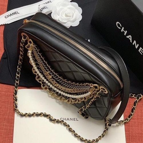 BOLSA CHANEL LAMBSKIN CAMERA CASE AS0773