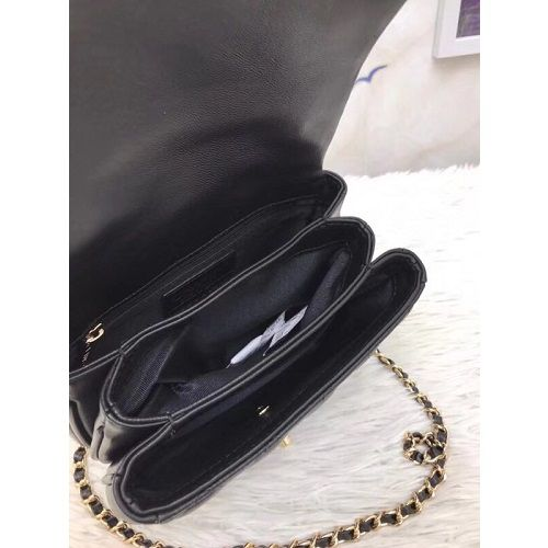 BOLSA CHANEL LAMBSKIN FLAP BAG WITH TOP HANDLE A57069