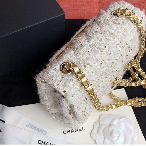 BOLSA CHANEL TWEED FLAP BAG A01112