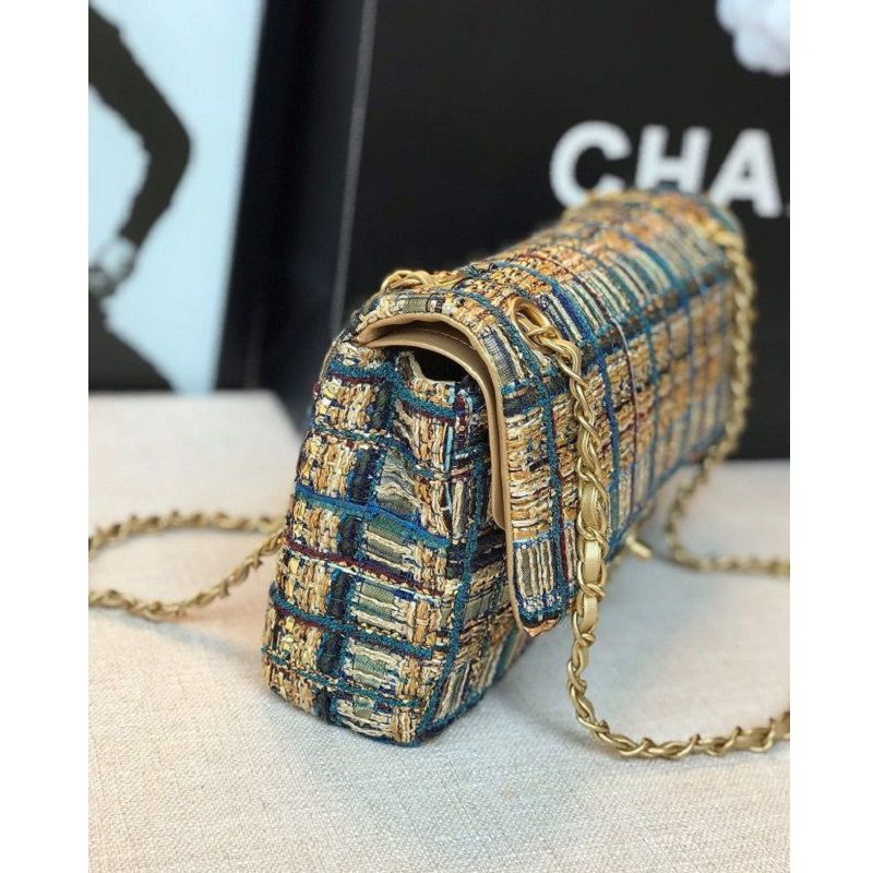 BOLSA CHANEL TWEED FLAP BAG A69900