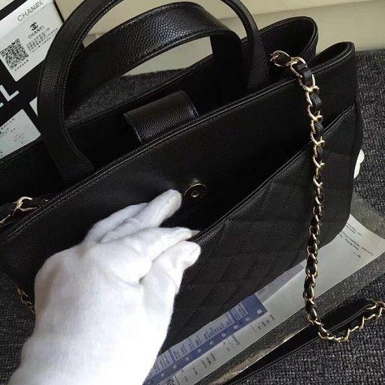Bolsa Clanel CC grained calfskin shopping bag A93794