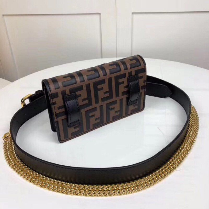Bolsa Fendi FF Embossed Calf Liberty Belt