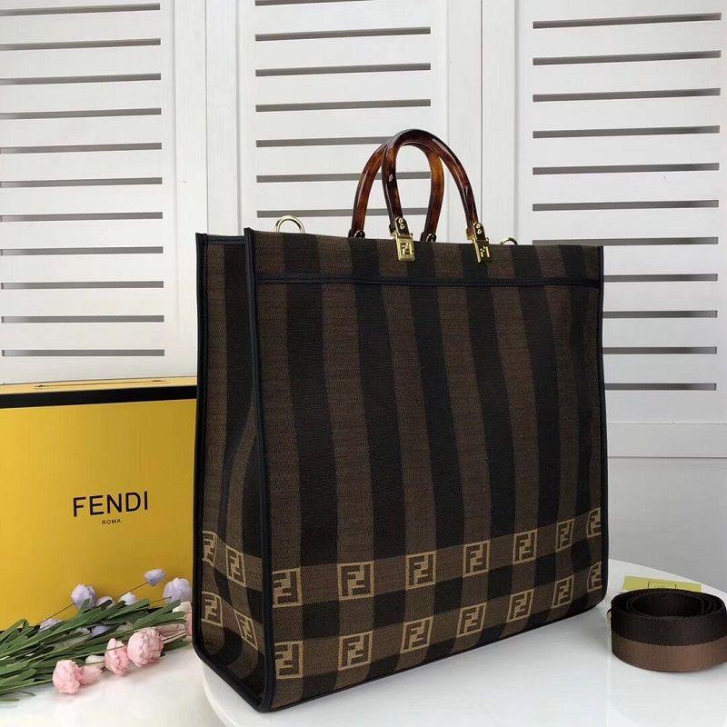 BOLSA FENDI SHOPPER IN BROWN FABRIC 8BH372