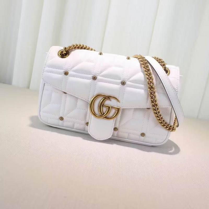 Gucci - GG Marmont Matelassé Shoulder Bag Black/Cream