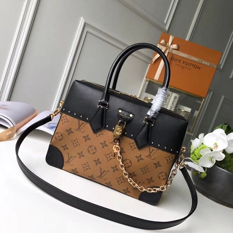BOLSA LOUIS VUITTON CITY  MALLE MM MONOGRAM REVERSE M43595