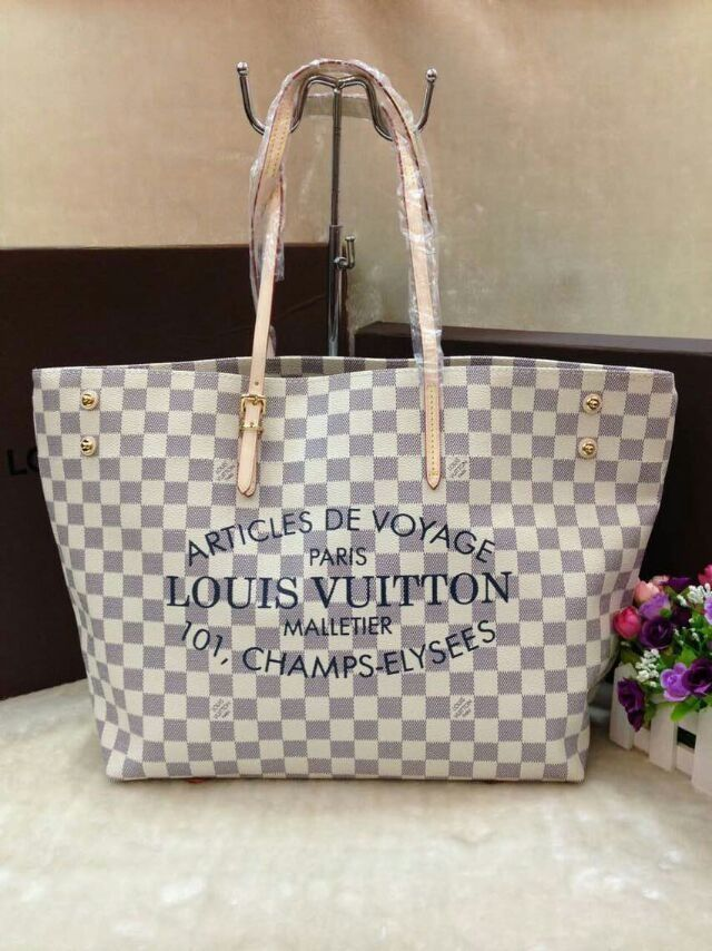 Bolsa Louis Vuitton Damier Azur Cabas Articles de Voyag