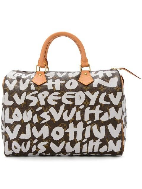 Bolsa LOUIS VUITTON Limited Edition Silver Graffiti Stephen Sprouse Speedy 30 Bag
