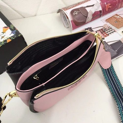 BOLSA PRADA LEATHER SHOULDER BAG 66136