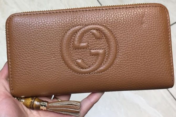 Carteira Gucci Soho Leather Zip