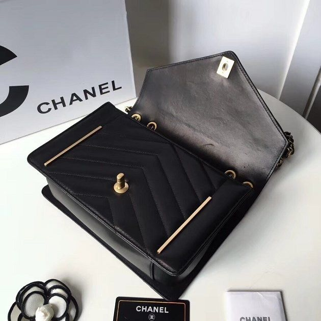 BOLSA CHANEL CC LAMBSKIN FLAP BAG A57430