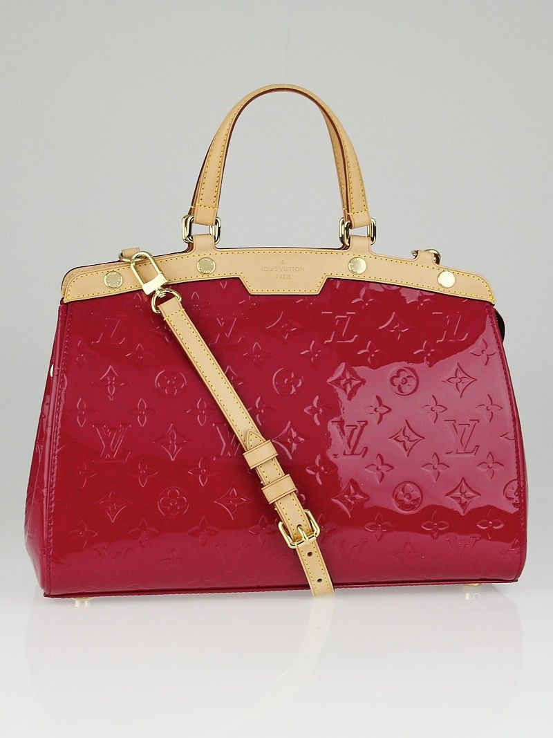 Louis Vuitton Brea MM Rose Monogram Vernis Leather