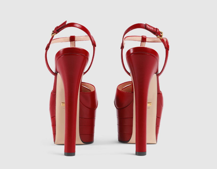 Sandália Plataforma Gucci Leather pump