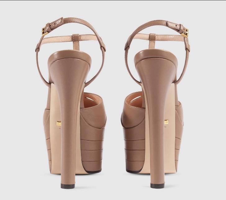 Sandália Plataforma Gucci Leather pump