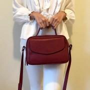 Bolsa Baú de Couro Vermelho - Cintos Exclusivos - Feminino