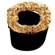 Cinto de Camurça Preto com Fivela Anjo Dourada  - 4cm -  Feminino
