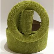 Cinto de Camurça com Fivela Encapada - 4,5 cm - Cintos Exclusivos - Feminino