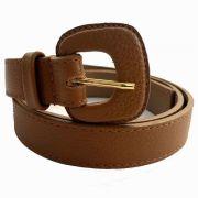 Cinto de Couro Caramelo Fino  2,5cm - Cintos Exclusivos - Feminino