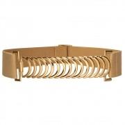 Cinto de Elástico Bege  Ajustável com Regulagem e Fivela Ouro - Cintos Exclusivos VC- Feminino