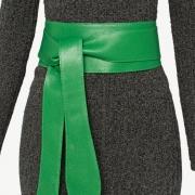 Lançamento - Cinto Faixa  Largo de Couro Verde  -  9 cm - Cintos Exclusivos VC - Feminino