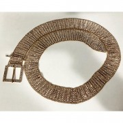Cinto Strass Dourado - 3 cm - Cintos Exclusivos - Feminino