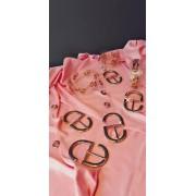 Promoção - Cinto Transparente com fivela dourada  -  4 cm - Cintos Exclusivos - Feminino