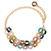 Corrente de Metal Dourado com detalhes em resina - Cintos Exclusivos - Feminino