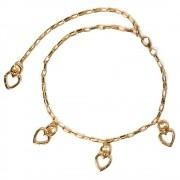 Corrente de Metal Dourado Coração - Cintos Exclusivos - Feminino
